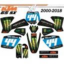 Kit déco KTM 65-sx FACTORY TEAM Decografix
