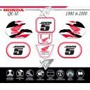 Kit deco QR50 HONDA BLANC 9ride