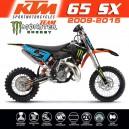 Kit déco KTM 65sx MONSTER TEAM